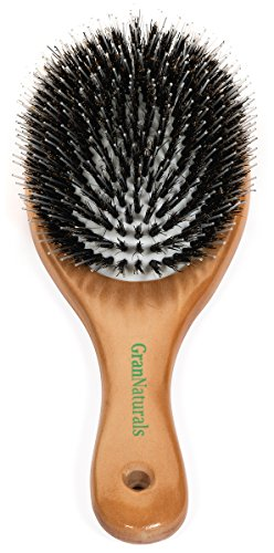 Boar Bristle Hair Brush -'Porcupine Style' - Mixed Bristle Natural Wooden Hairbrush for Thick...