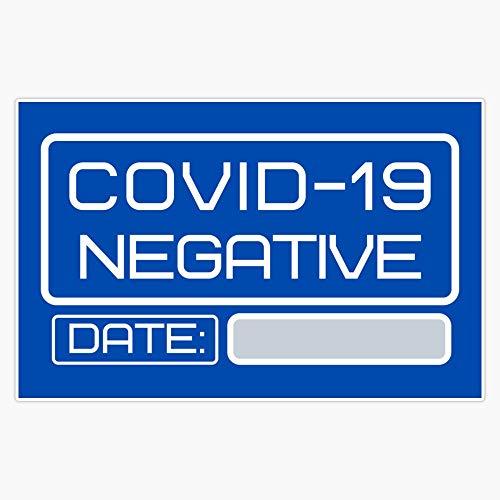 COVID-19 Negative test for coronavirus Decal Vinyl Bumper Sticker 5'