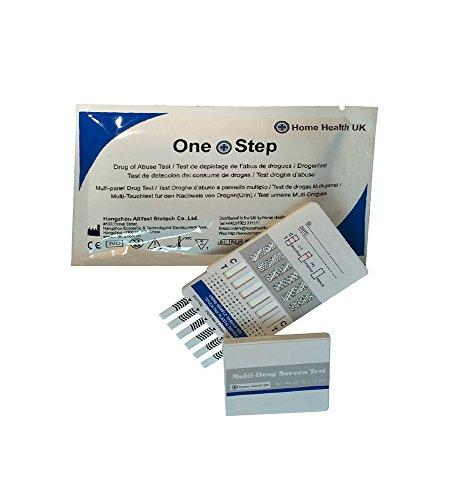 Test Drogas Formato Panel - Detecta 10 Drogas en Orina: Anfetaminas (Speed) Benzodiazepinas (Valium) Buprenorfina Cocaína (Crack) Ketamina Marihuana (Cannabis) Metadona Metanfetaminas Morfina Opiáceos