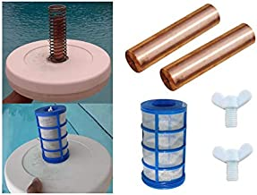 Copper-Silver Heavy Duty Anode (26% Larger) - 2 Pack - Compatible with Remington Solar | Human Creations with Free 1 Threaded Basket & 2 Wing Screws - fits Many Other Solar Ionizer Brands
