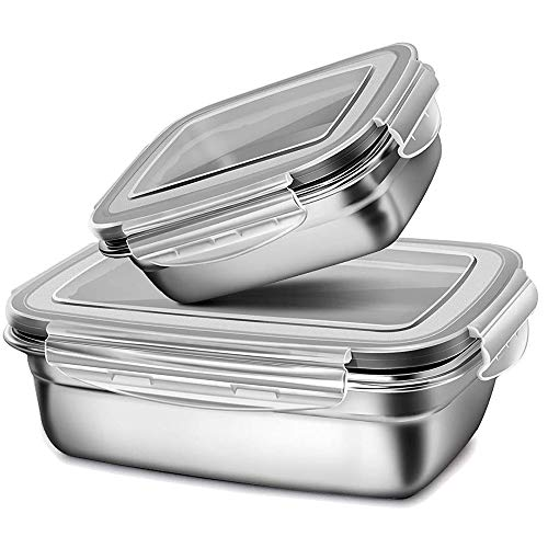 G.a HOMEFAVOR Metal Lunch Box Containers Kids Stainless Steel Lunch Box...