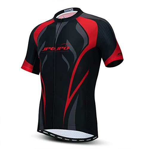 weimostar Ciclismo Jersey Uomini Alta Traspirante Maglia MTB Camicie Estate Corsa Bicicletta Top Back Safty Striscia Riflettente