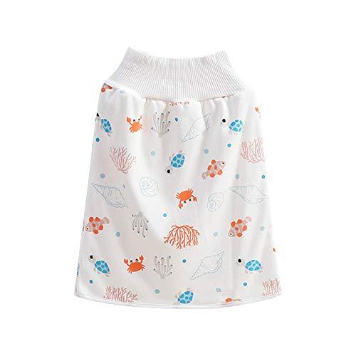 FATTERYU 2 en 1 Comfy Infants Baby Pañal Falda Impermeable Potty Training...