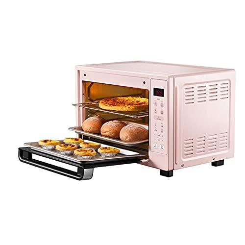 Mini horno eléctrico, tostadora Air Fryer Hogar Pequeño Multifunción Pan hornear Máquina de pan de pastel 35L Capacidad grande 70-230  Control de temperatura 120 minutos Temporizador 1500W Herramient