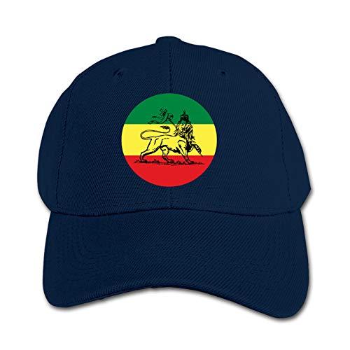 Rasta Lion Judah Ethiopian Flag Unisex Kinder Mütze Sonnenhut Hip Hop Kappe Verstellbare Sportkappe Teen Hut Kinder Entenschnabel Kappe