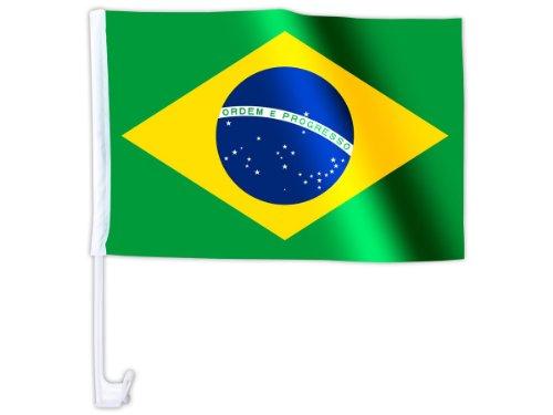 Alsino Eine WM Länder Auto Fahne Autoflagge Autofahne Fahne Auto Länderflagge Auto Fenster Flagge, wählen:AFL-11 Brasilien