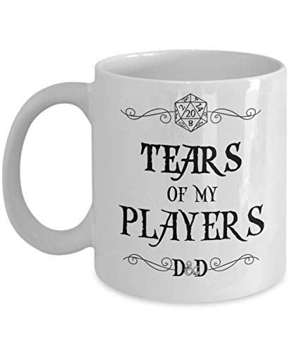 Dungeons and Dragons Mug for Boyfriend Dungeon Master Gift for Men Tears of My Players Tea Cup Funny Gift for D&D Dnd DM Fan Gift for Women