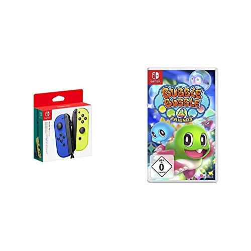 Nintendo Joy-Con 2er-Set, blau/neon-gelb & Bubble Bobble 4 Friends - Standard Edition - [Nintendo Switch]