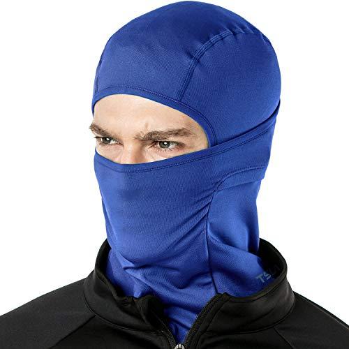 TSLA Balaclava ligera, protección UV, transpirable, para deportes al aire libre, resistente al viento, Niñas Mujer Niños Hombre, Yzb03 1 pack – Blue, large