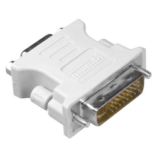 mumbi DVI Adapter (DVI-I zu VGA) DVI 24+5 zu VGA Adapter - Digital auf Analog Adapter für Grafikkarten, Beamer, und Monitore TFT (Crt)
