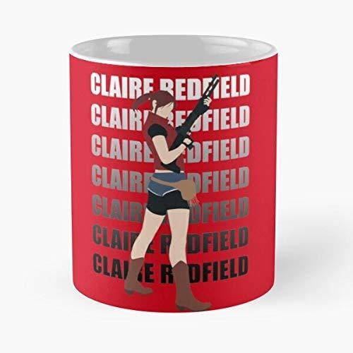 Claire Redfield Resident Evil 2 - La mejor taza de café de cerámica de mármol blanco de 11 onzas