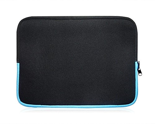 Sweet Tech Neopren Schutzhülle Sleeve passend für Odys TrendBook 12 Windows Notebook 29,5 cm (29,5–31,8 cm Laptop) schwarz / blau
