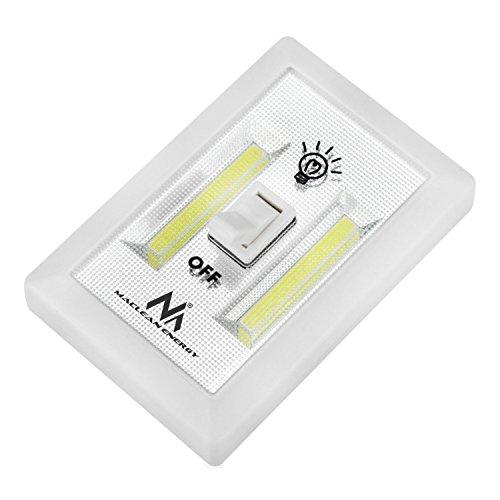 Maclean MCE174 LED Wandlampe 120 Lumen Zum Mitnehmen & Kabellos Schalter Lampe Batterie