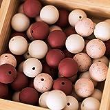 Mamimami Home 15mm 60pc Baby silikon Beißring Perlen Für Pflege Halskette Diy Kinderkrankheiten Armband Und Dummy Clip Baby Toys