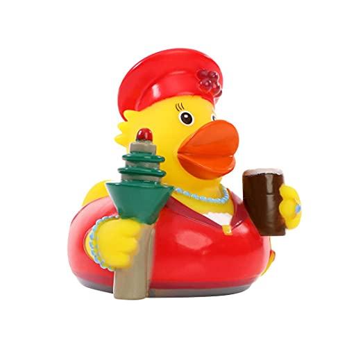 Schnabels Quietsche-Ente Düsseldorf - Geschenk für Geburtstag Kinder Baby Fre&-in Mädchen Junge - Spielzeug Quietsche-Ente Flügel Deko-Artikel Badewanne