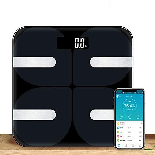 Actoor Báscula de Baño Bluetooth, Balanza Digital Baño Superficie de Gran Escala Sensor en Forma de G Centro de Gravedad Bajo Diseño 18 Mediciones de Datos 30 * 30cm