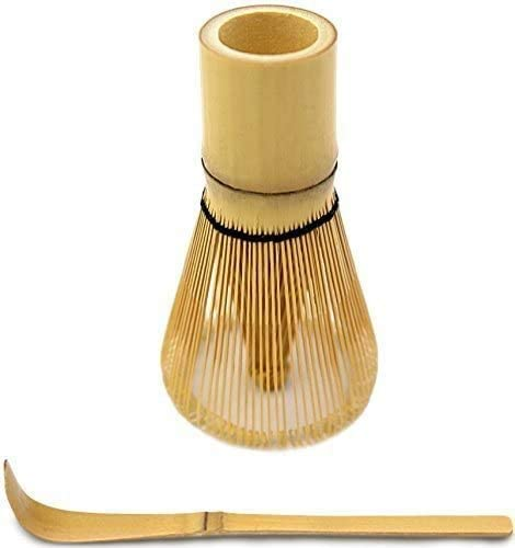 MatchDNA Bamboo Whisk & Bamboo Spoon for Organic Matcha Green Tea Preparation
