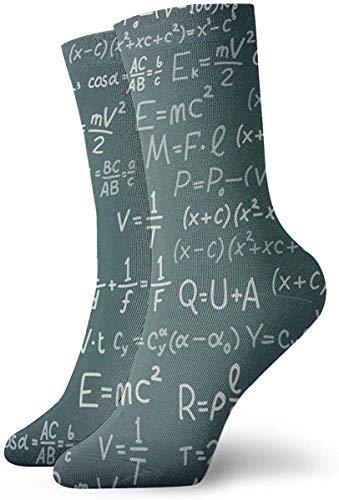 Funny Z Tablero Negro con Fórmula Científica Algebra Calcetines Novedad Calcetines de...