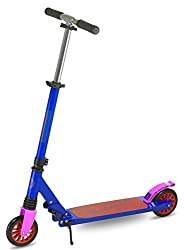 STURDY: Our speedy micro scooter is built from aircraft-grade aluminum—just like a plane! Its low-riding, non-slip deck helps keep safe and makes kicking a breeze. SUSPENSION: This two wheel scooter for kids feature high-rebound polyurethane wheels a...
