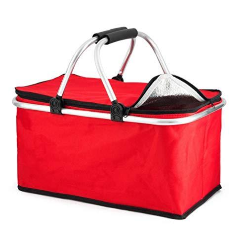 Extra-30L große Kühlkühler Cool Bag Box Picknick Camping Essen Eisgetränk Mittagessen, Rot