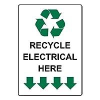 安全標識屋外の電気をここでは、錫金属標識通知警告サイン