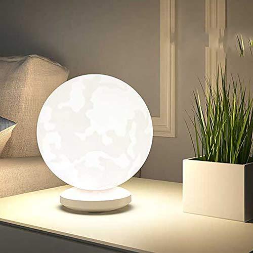 3d impreso luna luz noche dormitorio dormitorio cama lámpara de escritorio de control de carga