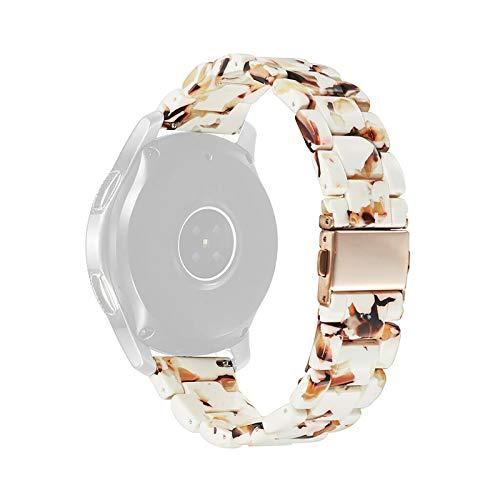 YFC Correa de Resina, Compatible con Samsung Galaxy Watch Active2 Huawei GT / GT2 Correa de Resina de Tres Cuentas de 20/22 mm, Correa de Resina de Repuesto Colorida Liviana e Impermeable
