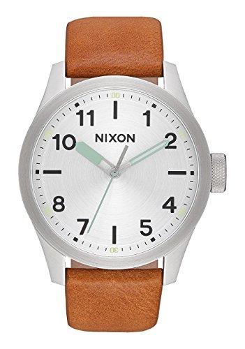 Nixon Herren Analog Quarz Smart Watch Armbanduhr mit Leder Armband A975-2853-00