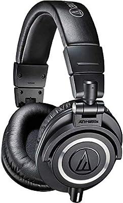 Audio-Technica ATH-M50x Professional Studio Monitor Headphones, Black by Audio-Technica U.S