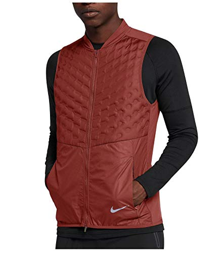 Price comparison product image Nike Men's AeroLoft Running Vest 928501 (Large,  Burnt Orange-Red)