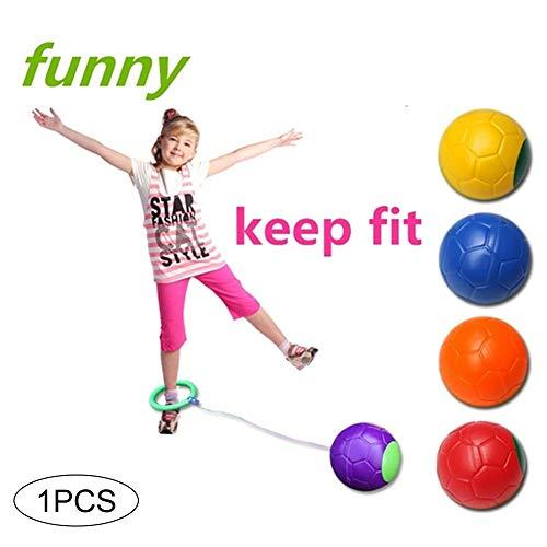 1pc überspringen Ball-Kind-Kind-Ankle überspringen Kugel Hop Springen Übung Spielzeug-Kind-Übung Koordination Gleichgewicht Hoop Jump Spielplatz Spielzeug-Spiel (zufällige Farbe)