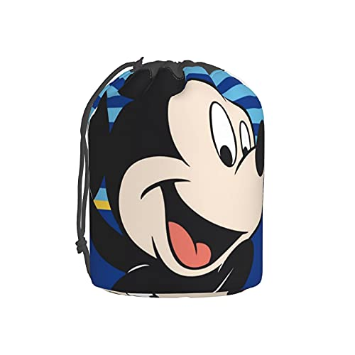 Bolsa de maquillaje Disney Mickey Mouse con cordón, bolsa de aseo de viaje, bolsa de maquillaje, bolsa grande para cosméticos, organizador para mujeres y hombres