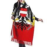 Bandera austriaca color Paradise mantón abrigo invierno cálido bufanda capa bufanda grande bufandas de gran tamaño para mujeres 77x27 pulgadas
