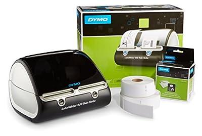 DYMO S0838910 Label Writer 450 Twin Turbo Label Printer, 71 Labels Per Minute, Black/Silver (1752266)