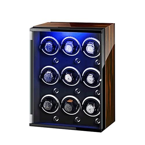 柔軟 ワインディングマシーン LED7色スーパークワイエットモーター付き 9 +0高級時計ディスプレイ 男性と女性の両方の時計で使用できます