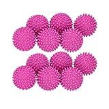 Bola de lavado, de PVC, reutilizable, bola de lavandería, secado de tela, suavizante para ropa del hogar, accesorios de lavado (color: 12 rosa rojo)