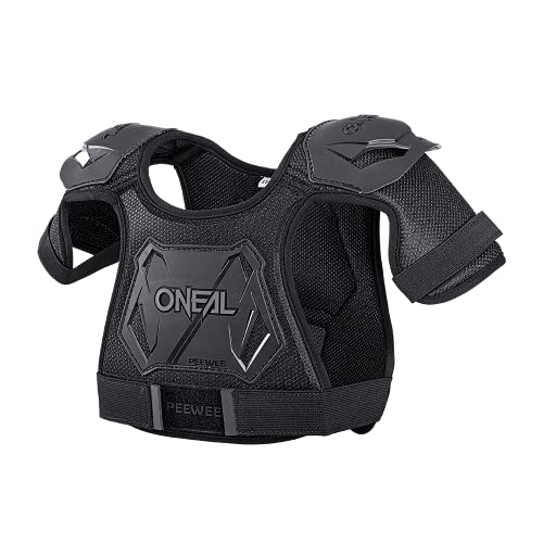 O'NEAL   Brustprotektor   Kinder   Motocross Enduro   Einfach verstellbar, Injizierte Plastikform für gesteigerten Schutz, Alter von 4-9 Jahren   Pee Wee Chest Guard   Schwarz Weiß   Größe XS/S