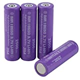 Maditun Batteria Ricaricabile 2500mAh 35A 3.7V Corrente di Scarico 18650 ad Alto drenaggio 4 Pezzi