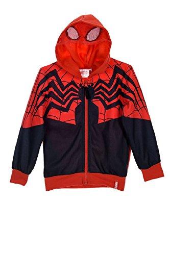 Spiderman - Sudadera con Capucha - para niño Negro Negro (6 Años