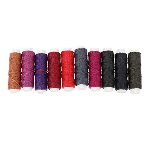My-Bead algod/ón cuerda encerada trenzado di/ámetro /Ø 1 mm rollo con 90 m azul calidad superior DIY