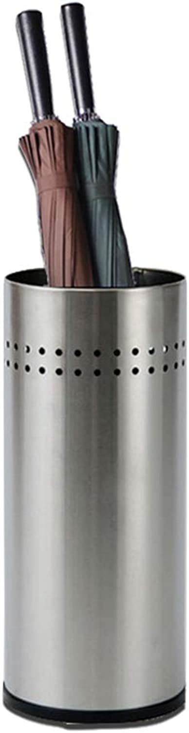 LXLA - Stainless Steel Tubular Umbrella Stand Holder with Silent Rubber Base for Office Hotel Hallway Entryway