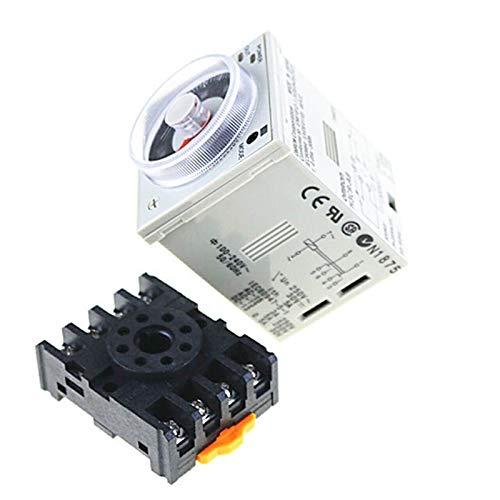 QIANSDZSW Relé H3CR-A8 8 Pin AC/DC 24-240V Time Relay 24-240VAC / 24-240VDC Temporizador