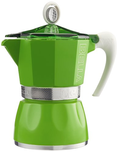G.A.T. 2790000084 Espressokocher bereitet bis zu 3 Tassen, grün
