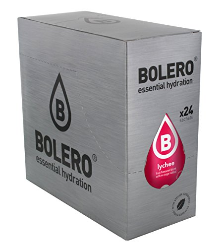 Bolero Bebida Instantánea sin Azúcar, Sabor Lichi - Paquete de 24 x 9 gr - Total: 216 gr