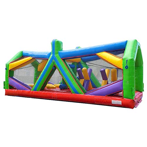 Cheapest Price! Retro Radical Run Inflatable Obstacle Course - Extreme Unit #2 - 30' L x 11' W x 12'...