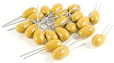 sourcing map 3.3uF Tantalum Capacitor 35V 2P Yellow Radial Electrolytic Capacitor Dipped Tantalum Bead Capacitors 5pcs