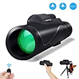 CEENDA Monocular Telescope,12X50 High Power&HD Monocular with Universal Smartphone Holder and Wireless Remote Control-Waterproof Scope, BAK4 Prism for Bird Watching, Hunting, Surveillance, Hiking
