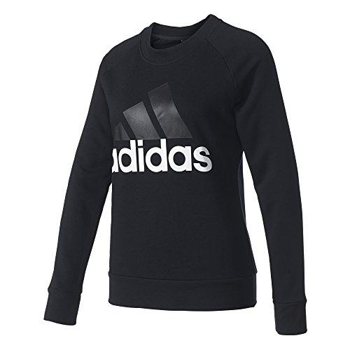 adidas Damen Essetnials Linear Sweatshirt, Black, L