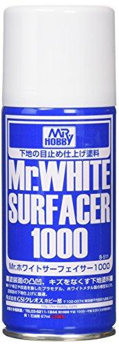 GSIクレオス Mr.ホワイトサーフェイサー 1000 スプレー 170ml ホビー用仕上材 B511