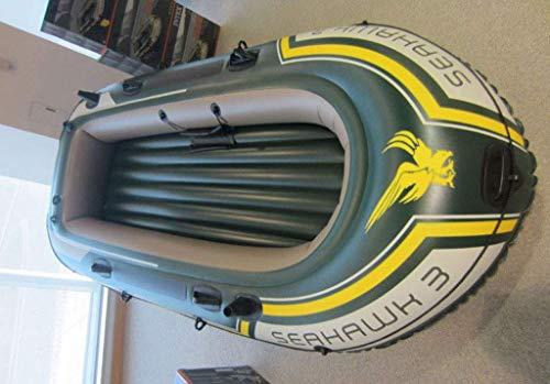 Schwimmbad, 3-Personen-Schlauchboot zum Senden von Aluminiumpaddeln und Hochleistungs-Luftpumpen-Fischer-Schlauchboot